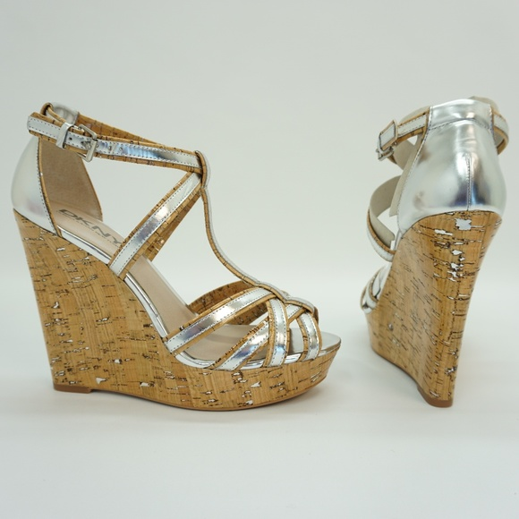 ca8407d96238 DKNY Ankle Strap Platform High Heel Wedge Sandals